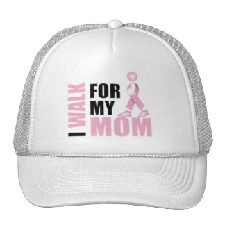 I Walk for my Mom pink Hats