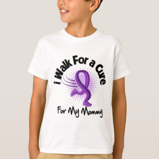 I Walk For My Mommy - Purple Ribbon T-Shirt