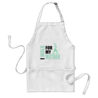 I Walk for my Mother teal Adult Apron