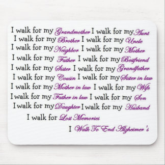 I walk for my... mouse pad