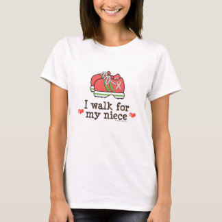 I Walk For My Niece Breast Cancer T-shirt