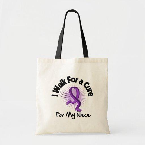 I Walk For My Niece - Purple Ribbon Budget Tote Bag