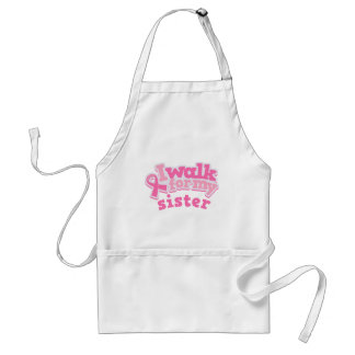 I Walk For My Sister Adult Apron