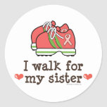 I Walk For My Sister Breast Cancer Walk Stickers