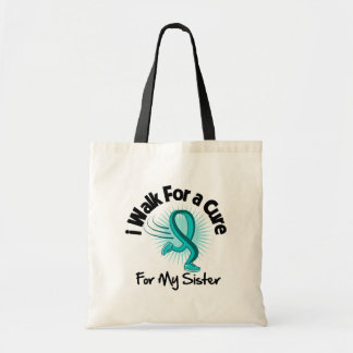 I Walk For My Sister - Teal Ribbon Bags