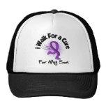 I Walk For My Son - Purple Ribbon Trucker Hat