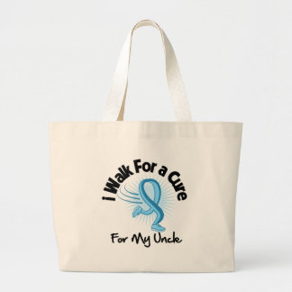 I Walk For My Uncle - Prostate Cancer Jumbo Tote Bag