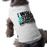 I Walk For Ovarian Cancer Awareness Doggie Tshirt