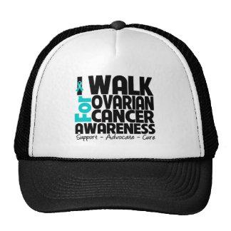I Walk For Ovarian Cancer Awareness Trucker Hat