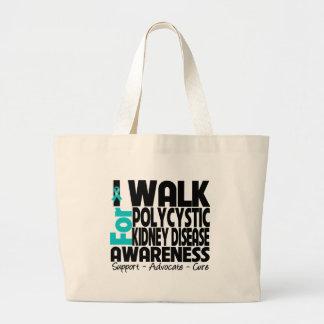 I Walk For Polycystic Kidney Disease Awareness Canvas Bag