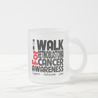 I Walk For Retinoblastoma Cancer Awareness 10 Oz Frosted Glass Coffee Mug