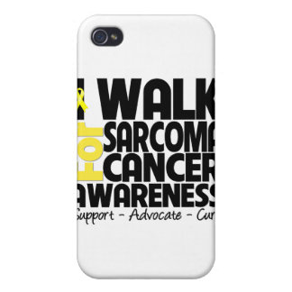 I Walk For Sarcoma Cancer Awareness Cases For iPhone 4