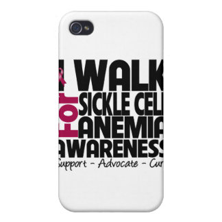 I Walk For Sickle Anemia Awareness iPhone 4 Cases