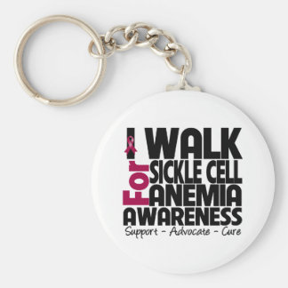 I Walk For Sickle Cell Anemia Awareness Basic Round Button Keychain