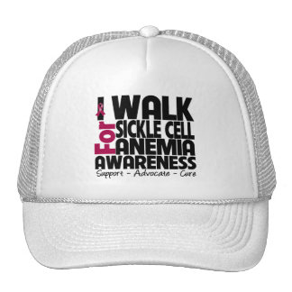 I Walk For Sickle Cell Anemia Awareness Trucker Hat