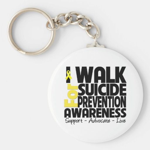 I Walk For Suicide Prevention Awareness Key Chains