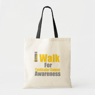 I Walk For Testicular Cancer Awareness Tote Bags