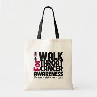 I Walk For Throat Cancer Awareness Budget Tote Bag