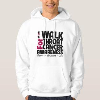 I Walk For Throat Cancer Awareness Hoodies