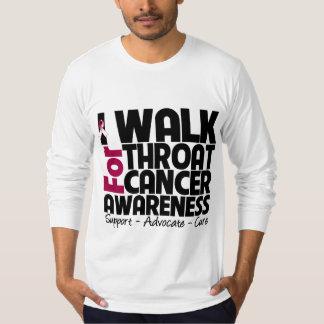 I Walk For Throat Cancer Awareness Shirt