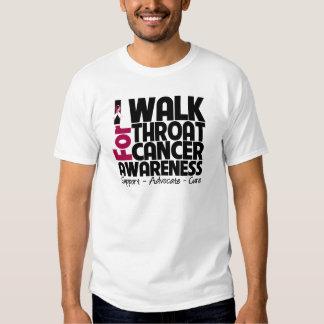 I Walk For Throat Cancer Awareness T Shirt