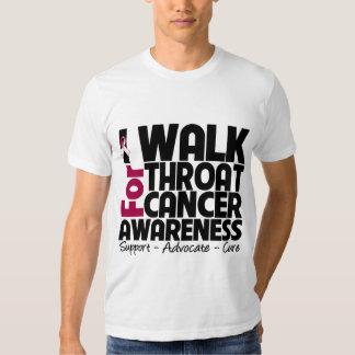 I Walk For Throat Cancer Awareness T Shirts