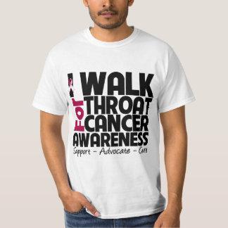 I Walk For Throat Cancer Awareness Tee Shirt
