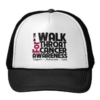 I Walk For Throat Cancer Awareness Trucker Hat