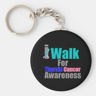 I Walk For Thyroid Cancer Awareness Keychains