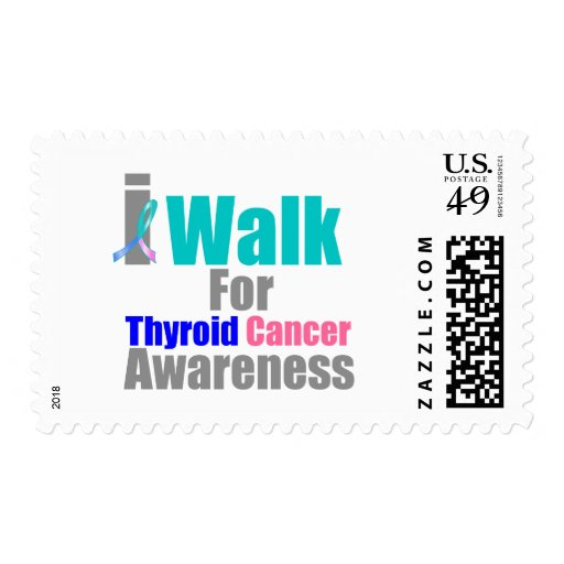I Walk For Thyroid Cancer Awareness Postage