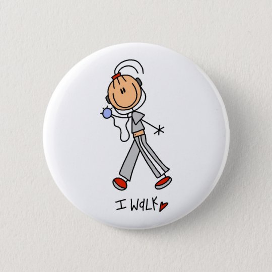 I Walk Pinback Button