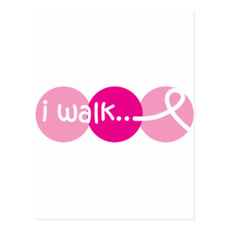 I-Walk---T-shirt-bright Postcard