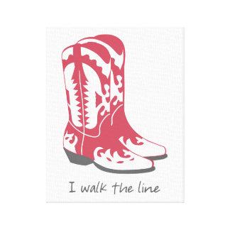 I Walk the Line Cowboy Boots Wall Art