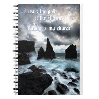 I Walk the Path Spiral Notebook