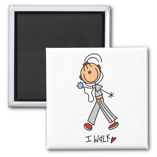 I Walk Tshirts and Gifts 2 Inch Square Magnet