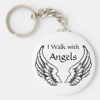 I Walk with Angels KeyChain