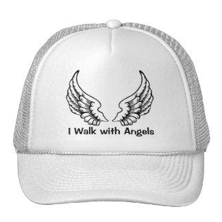 I Walk with Angels Ladies Cap Trucker Hat