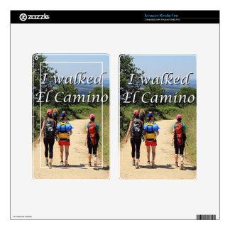 I walked El Camino, Spain (caption) Kindle Fire Decals