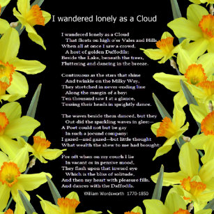 wordsworth lonely as a cloud