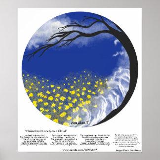 I Wandered Lonely as a Cloud Mandala Print
