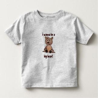 I wanna be a big bear toddler t-shirt