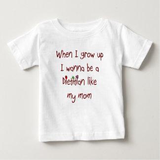 I wanna be a Dietitian Like My Mom Baby T-Shirt