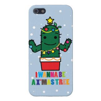 I Wanna be a X'mas Tree Cactus Funny iPhone 5 Case
