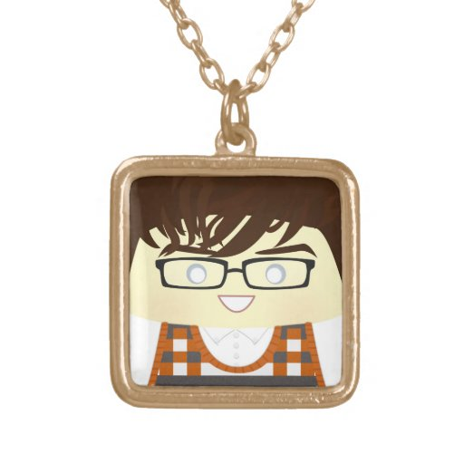 I Wanna Be Clear Square Pendant Necklace