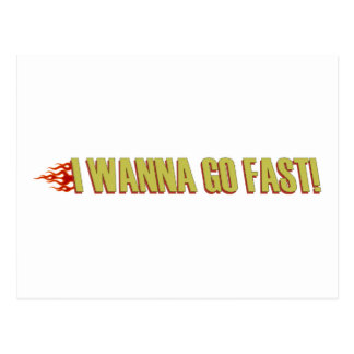 I Wanna Go Fast Postcard
