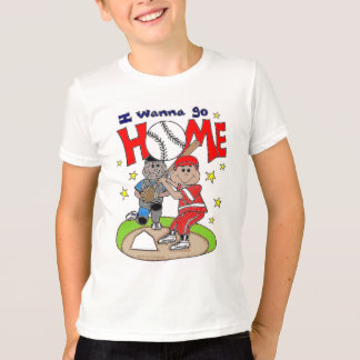 """""""I wanna go HOME"""" baseball shirt"""