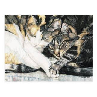 """""""I Wanna Hold your Paw"""" Cat Art Postcard"""