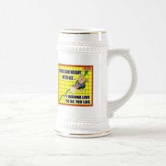I Wanna Live T-shirts and Gifts Beer Stein