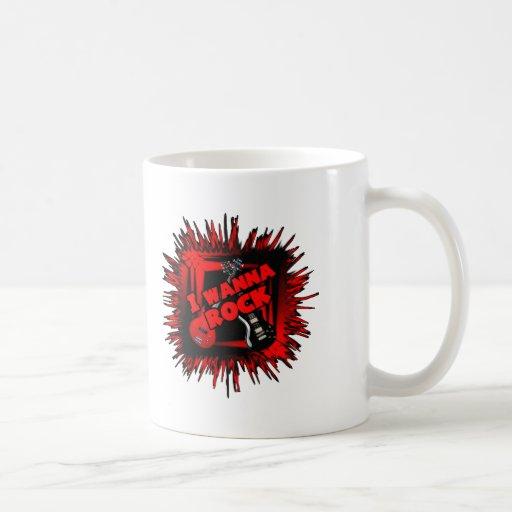 I wanna rock mug