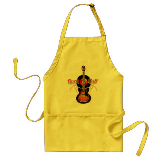 I Wanna Rock-n-Roll All Night and Party Everyday Adult Apron